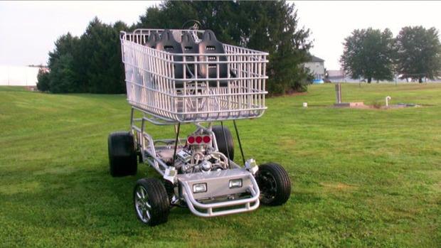 В США  тележку для супермаркета оснастили 290-сильным двигателем. Изображение № 1.