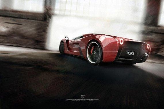 Представлен новый концепт суперкара на базе Ferrari 458 Italia. Изображение № 2.