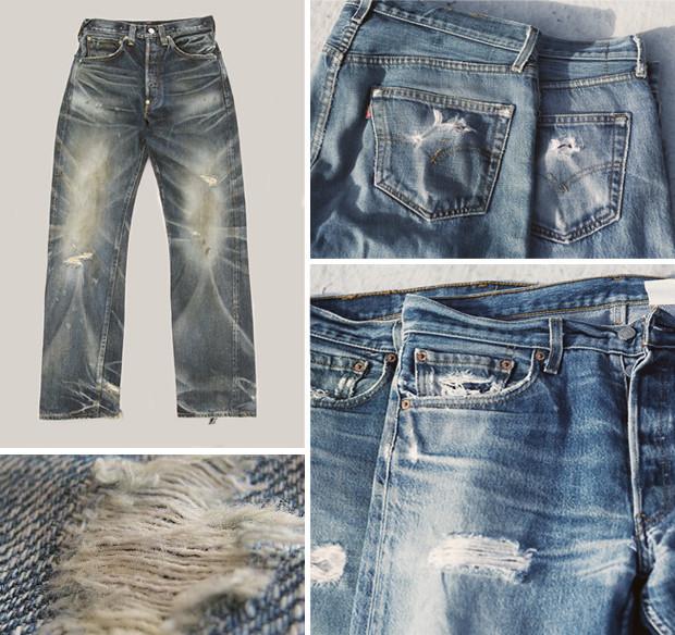 Кастет, краска и вышитые инициалы: Как кастомизировать любимую пару джинсов. Изображение № 11.