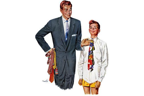 Инструкция по выбору галстука, середина XX века. Изображение № 14.