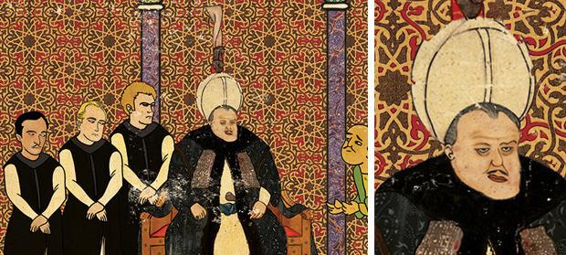 Турецкий художник изобразил кадры из известных фильмов в стиле миниатюр времен Османской империи. Изображение № 5.