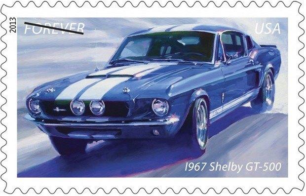 Почта США выпустила коллекцию марок с изображением легендарных маслкаров. Изображение № 2.
