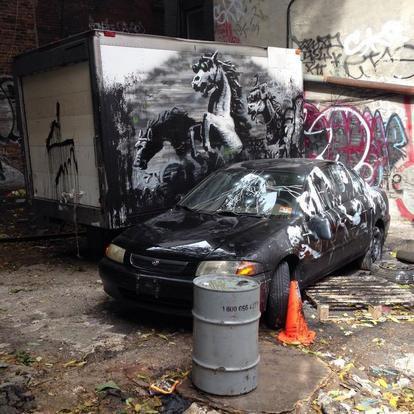 В Нью-Йорке появилась новая работа Бэнкси. Изображение № 8.