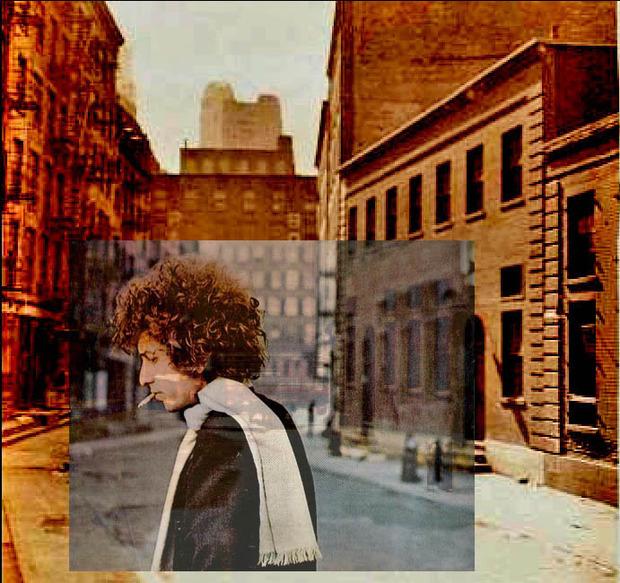 Американский фотограф наложил обложки известных альбомов на современные виды Нью-Йорка. Изображение № 4.