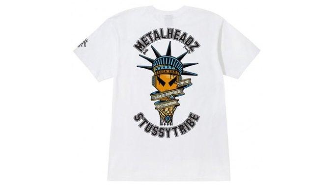Марка Stussy поздравила лейбл Metalheadz с 20-летием выпуском футболок. Изображение № 4.
