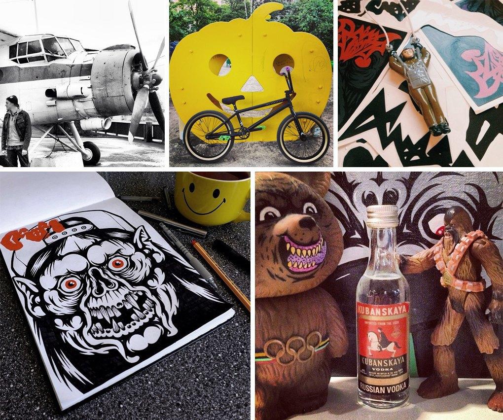 Что публикуют в своих Instagram российские граффити-художники. Часть вторая. Изображение № 13.