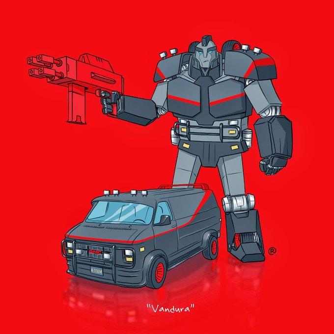Даррен Роулингс: Если бы машины из культовых фильмов были трансформерами. Изображение № 11.