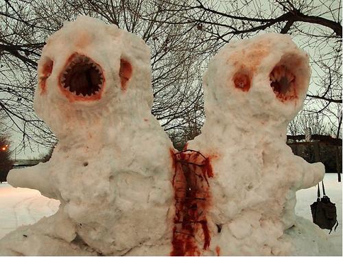 Что ты лепишь: Альтернативные снеговики со всего мира. Изображение № 7.