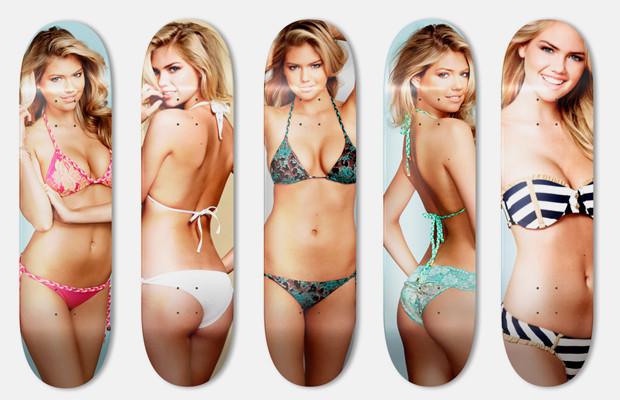 Дизайнер Джейсон Юм выпустил деки для скейтбординга с портретами Кейт Аптон. Изображение № 1.