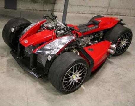 Квадроцикл с мотором Ferrari компании Ludovic Lazareth. Изображение № 2.