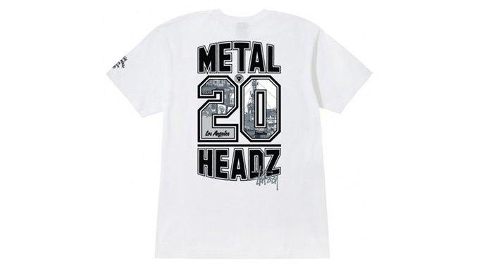 Марка Stussy поздравила лейбл Metalheadz с 20-летием выпуском футболок. Изображение № 8.