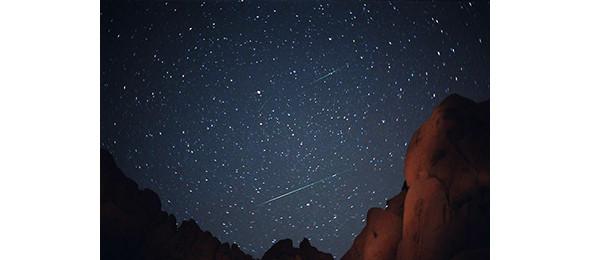 Метеор из потока Лириды. Поток наблюдается ежегодно с 16 по 26 апреля. Изображение № 10.