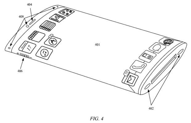 Apple патентуют iPhone с наматывающимся дисплеем. Изображение № 1.