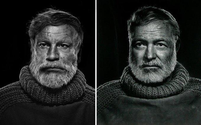 Джона Малковича пересняли на манер культовых фотографий. Изображение № 6.