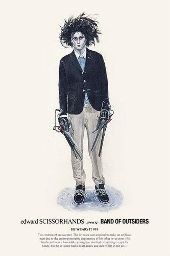 Художник Джон Ву продолжил серию модных иллюстраций с героями кино. Изображение № 3.