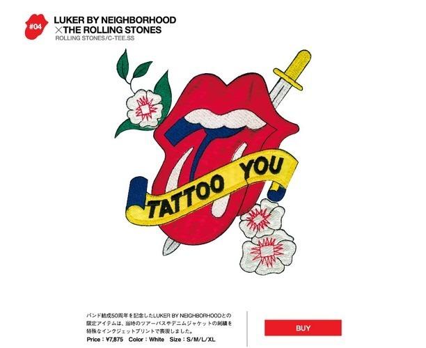Японские модные бренды отметили юбилей The Rolling Stones коллекцией футболок. Изображение № 8.
