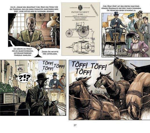 Вышли комиксы об изобретателе автомобиля Карле Бенце. Изображение № 6.