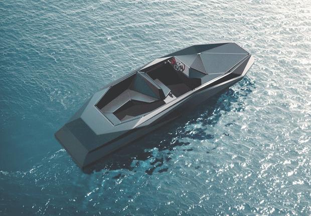 Заха Хадид создала быстроходный асимметричный катер в стиле истребителя «Стелс». Изображение № 2.