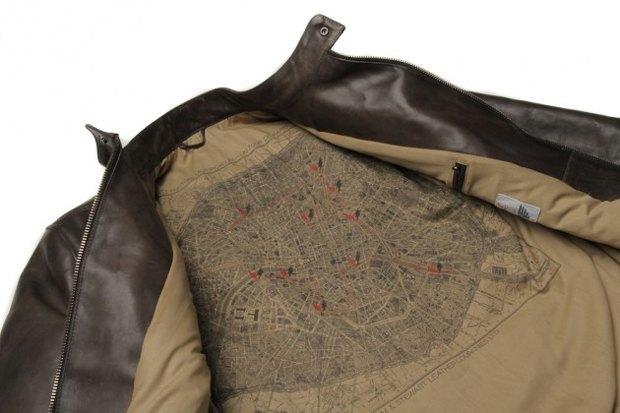 Марка Edwin и мастерская Blitz Motorcycles сшили мотоциклетную куртку с картой Парижа. Изображение № 4.