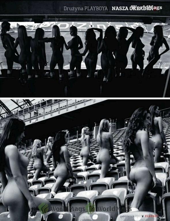 Девушки из Playboy протестировали футбольный стадион для Евро-2012. Изображение № 2.