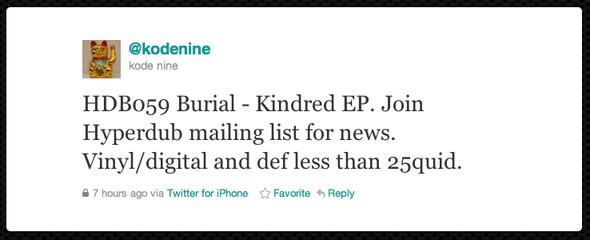 Hyperdub заявил о новом мини-альбоме Burial. Изображение № 1.