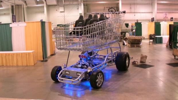 В США  тележку для супермаркета оснастили 290-сильным двигателем. Изображение № 8.