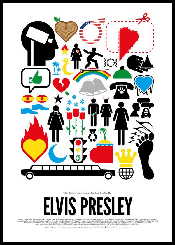 Шведский иллюстратор сделал серию плакатов с зашифрованными названиями песен легендарных музыкантов. Изображение № 6.