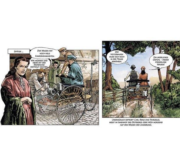 Вышли комиксы об изобретателе автомобиля Карле Бенце. Изображение № 5.