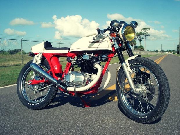Мастерская Bare Bone Rides выпустила каферейсер на основе Honda CB200T. Изображение № 3.
