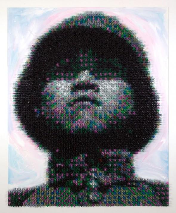 Художник Джо Блэк сделал портрет из 5500 игрушечных солдатиков. Изображение № 1.
