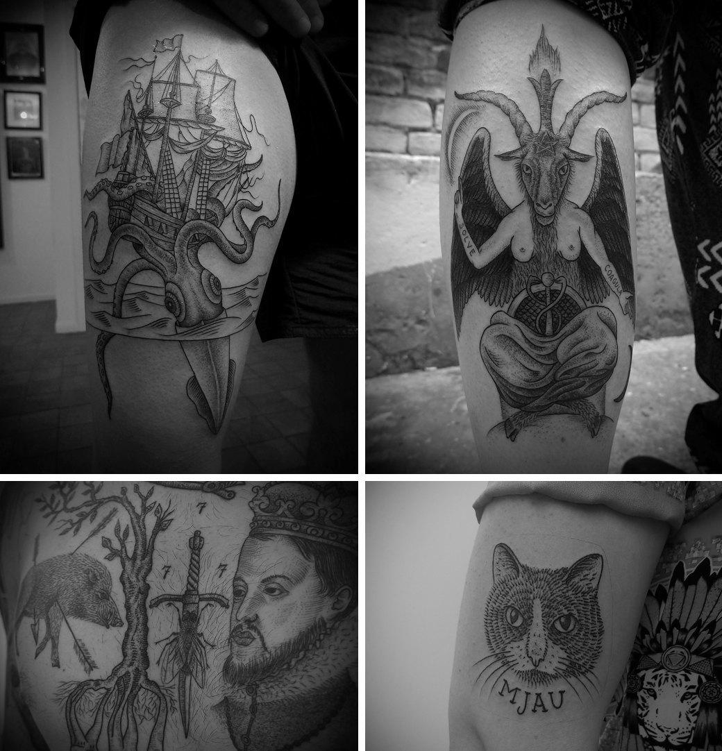 Гид по гравюрному стилю татуировок. Изображение № 11.