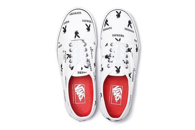 Марки Vans, Supreme и  Playboy выпустили совместную коллекцию обуви. Изображение № 9.