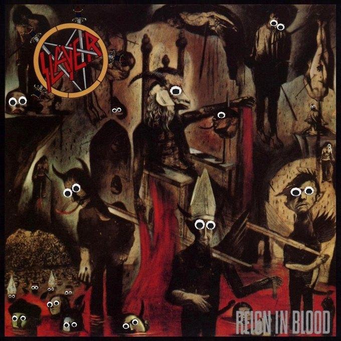 Metal Albums with Googly Eyes: Блог смешного кастомайзинга альбомов тяжёлой музыки. Изображение № 2.