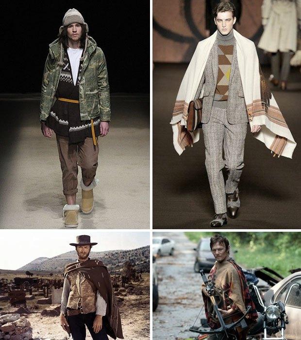 Неочевидный тренд: Как носить мексиканские пончо и серапе, если очень хочется. Изображение № 3.