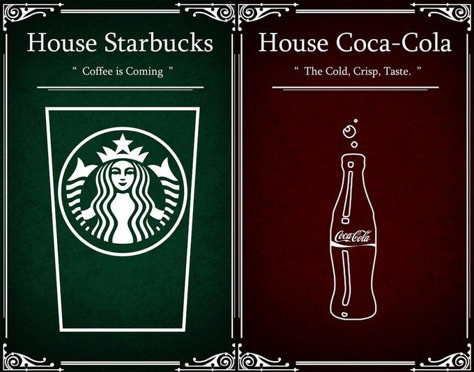 Как выглядели бы логотипы брендов в мире «Игры престолов». Изображение № 8.