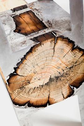 Дизайнер Хилла Шамиа сделала мебель из древесных стволов и расплавленного алюминия. Изображение № 9.