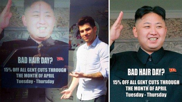 Ким Чен Ын «прорекламировал» лондонскую парикмахерскую . Изображение № 1.