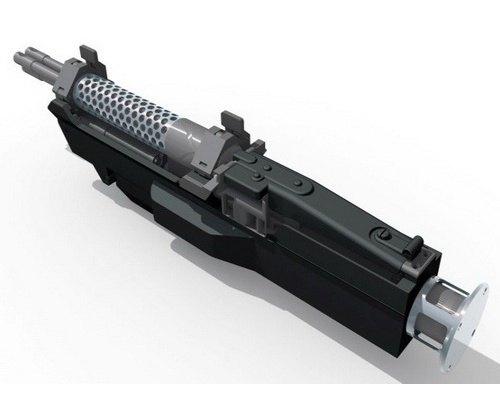 Немецкая компания изготовила трехствольный пулемет с электромотором. Изображение № 1.
