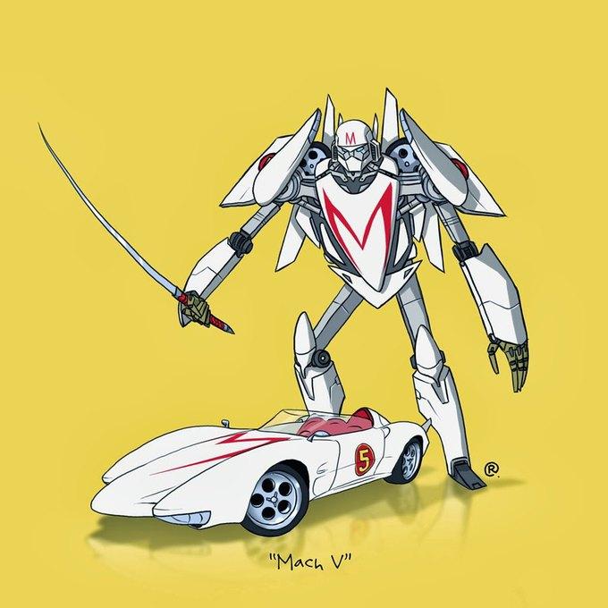 Даррен Роулингс: Если бы машины из культовых фильмов были трансформерами. Изображение № 7.