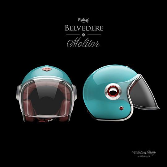 Коллекция мотоциклетных шлемов марки Les Ateliers Ruby. Изображение № 6.