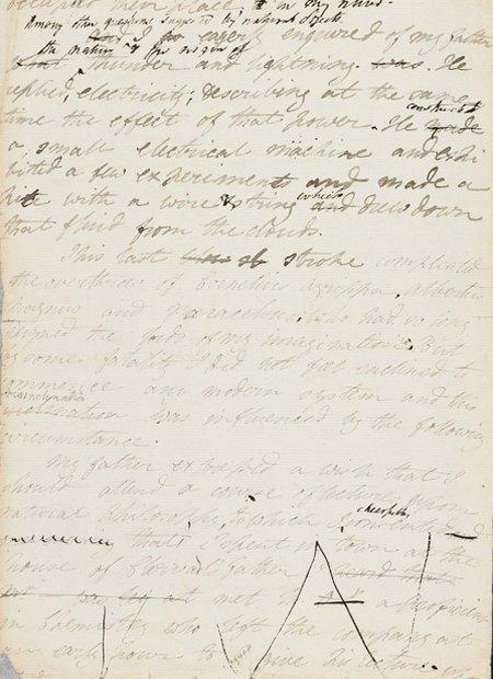 Рукопись романа «Франкенштейн» опубликована в сети. Изображение № 1.