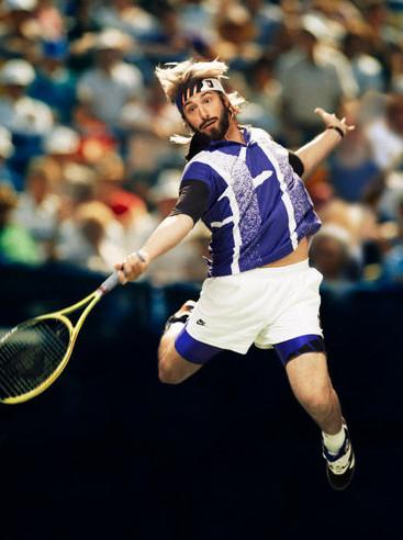 Пародия на легендарных теннисистов в журнале New York Times. Изображение № 1.