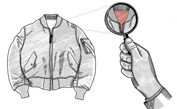 Внимание к деталям: Для чего подкладку пилотских курток красят в оранжевый цвет. Изображение № 2.