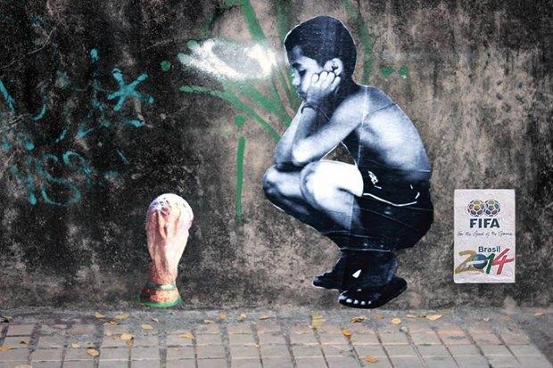 Такой футбол нам не нужен: Граффити против чемпионата мира. Изображение № 1.