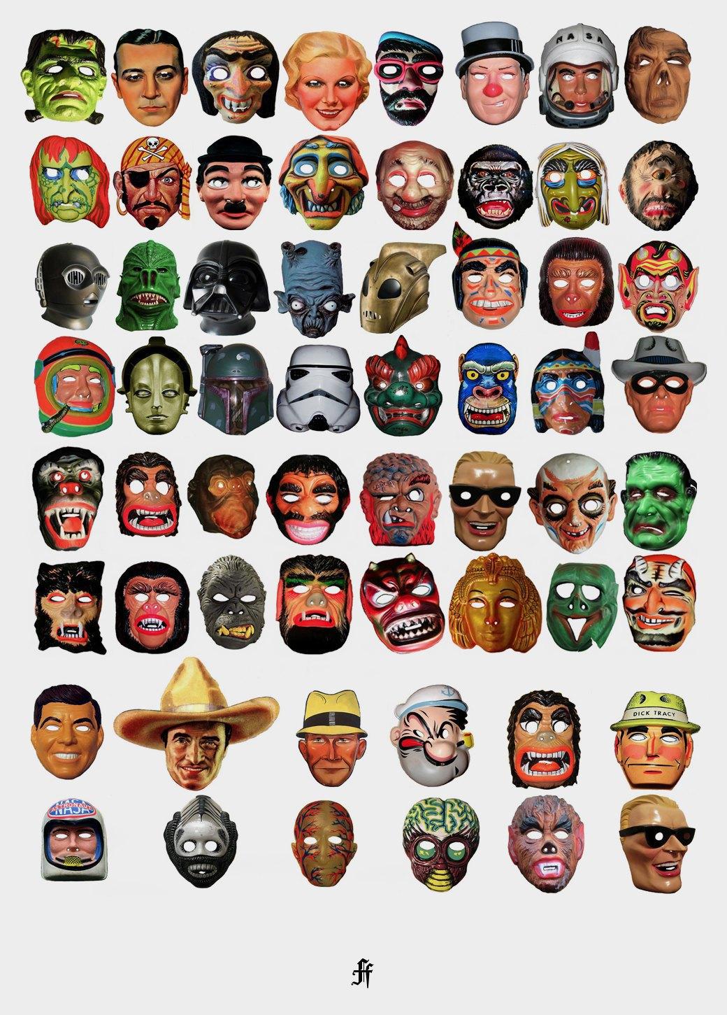 Жуткие маски на Хэллоуин как одержимость фотографа Майкла Рида. Изображение № 1.