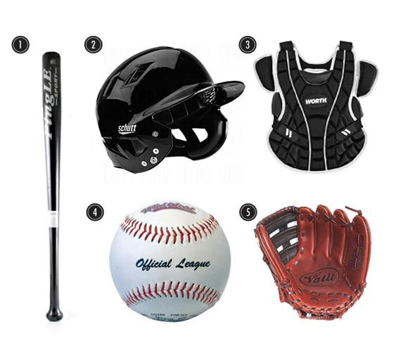 1. Битаю 2. Шлем  3. Защитный жилет 4. Бейсбольный мяч 5. Перчатка. Изображение № 24.