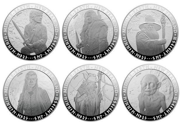 В Новой Зеландии появятся монеты и марки с изображением героев Толкина. Изображение № 1.