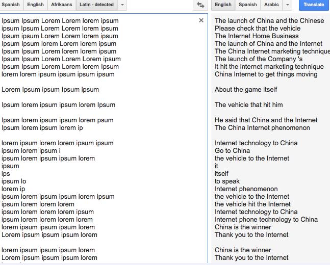 В переводчике Google обнаружили тайный шифр. Изображение № 2.