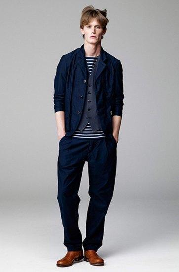 Японская марка Attachment выпустила лукбук весенней коллекции одежды. Изображение № 6.