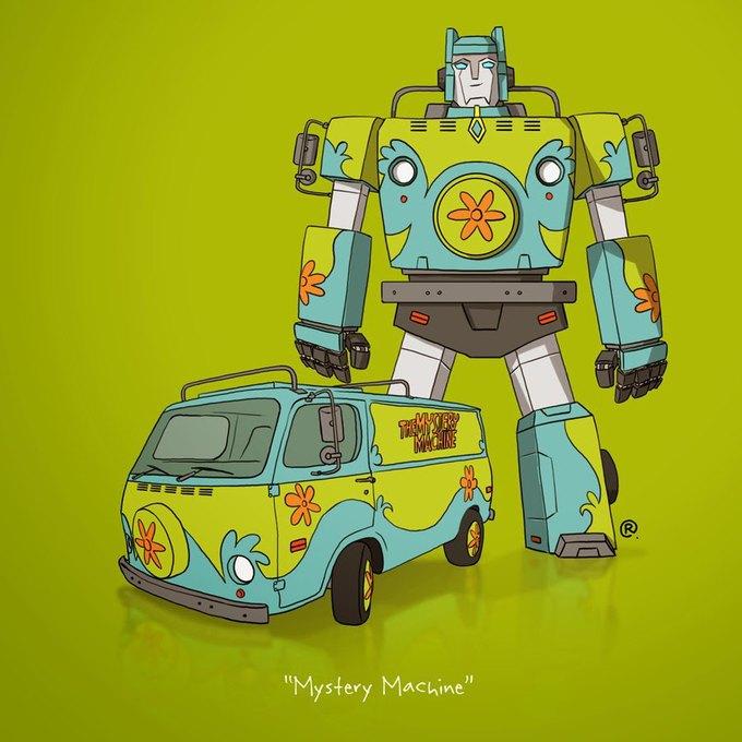 Даррен Роулингс: Если бы машины из культовых фильмов были трансформерами. Изображение № 8.